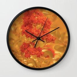 Crimson & Gold Wall Clock