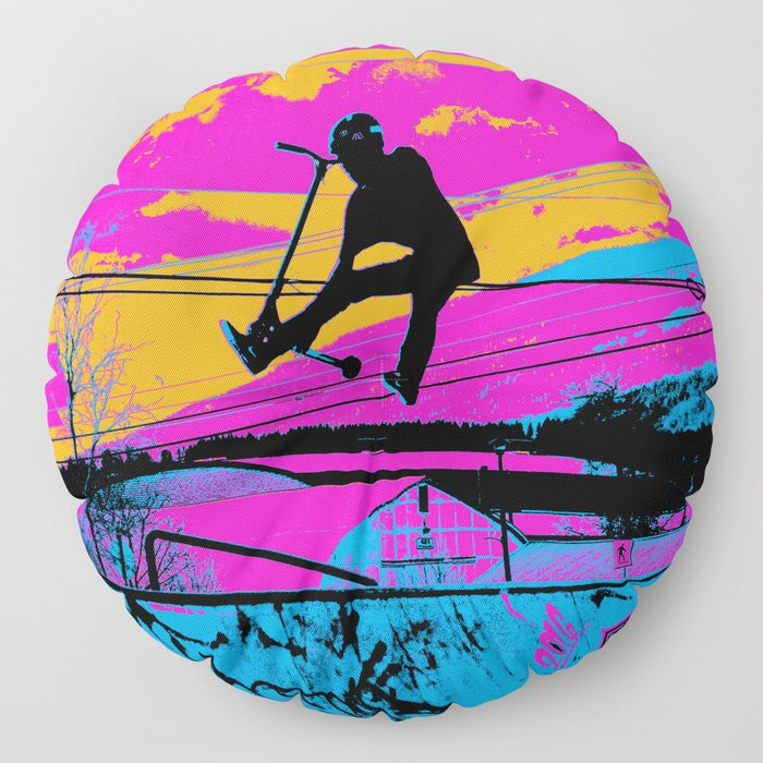 Lets Fly!  - Stunt Scooter Floor Pillow