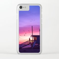 Sunset Tower Clear iPhone Case