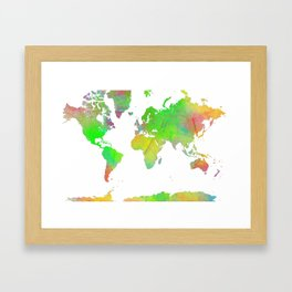 World Map 7 Framed Art Print