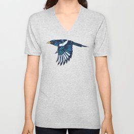 Yellow-billed Magpie Unisex V-Neck