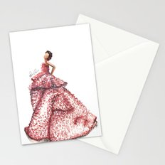Slight Arc Watercolor Fashion Illustration Stationery Cards