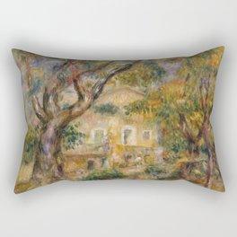 """Pierre-Auguste Renoir """"The Farm at Les Collettes, Cagnes"""" Rectangular Pillow"""