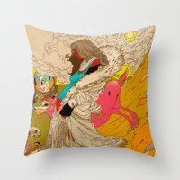 mother Throw Pillows featuring MOTHER by kasi minami