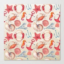 Marine Pattern 04 Canvas Print