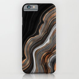 Glowing Marble Waves  iPhone Case