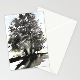 Sumie No.9 trees Stationery Cards