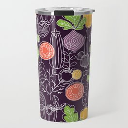 Vegetable Pattern Scandinavian Design Travel Mug