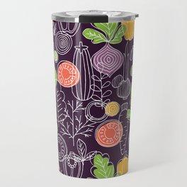 Vegetable Pattern Scandinavian Design Travel Mug