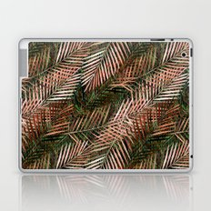 Golden pink palm leaves Laptop & iPad Skin