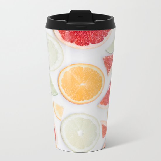 citrus fresh Metal Travel Mug