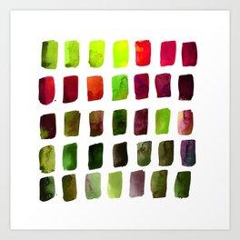 Brushstrokes 1za by Kathy Morton Stanion Art Print