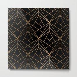 Elegant geometric copper black Metal Print