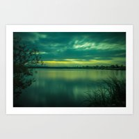 Sloans Lake Sunset Art Print
