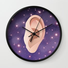 Ear in Universe Wall Clock