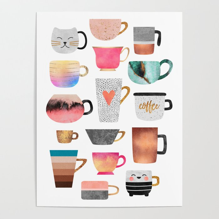 Coffee Cup Collection Poster