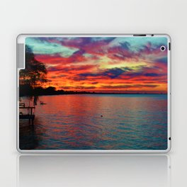 Sunset on Lake St. Clair in Belle River, Ontario, Canada Laptop & iPad Skin