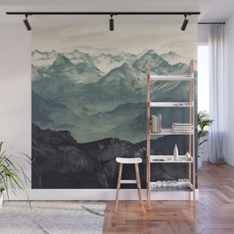 Mountain Fog Wall Mural