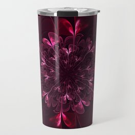 Flower In Bordo Travel Mug