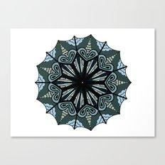 Cool tone mandala Canvas Print