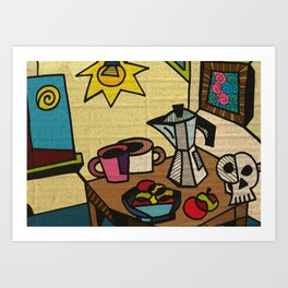 Breakfast in Cubism Art Print