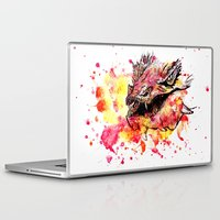 smaug Laptop & iPad Skins featuring Watercolor Smaug by Trinity Bennett