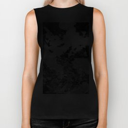 Bronx Black Waterfront Plantlife (Leaf Monotype Print Series) Biker Tank