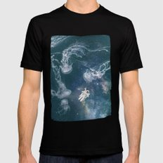 Lost on a Jellyfish Galaxy's Black Mens Fitted Tee MEDIUM
