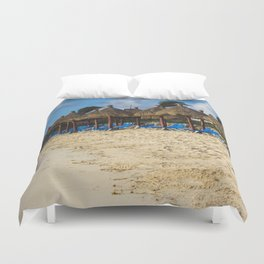 Early Morning at the beach - Tullum, Mexico Duvet Cover