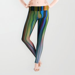Colored Bamboo Abstract Leggings
