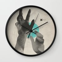 island Wall Clocks featuring Treasure Island by Davies Babies