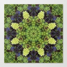 Filigree Foliage Kaleidoscope Canvas Print