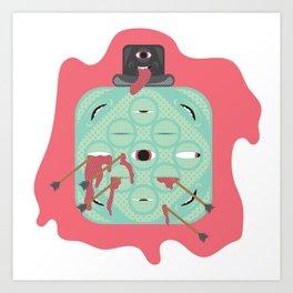 Quite an Abstract Bloke Art Print