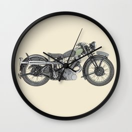 1935 Panther Motorcycle illustration Wall Clock