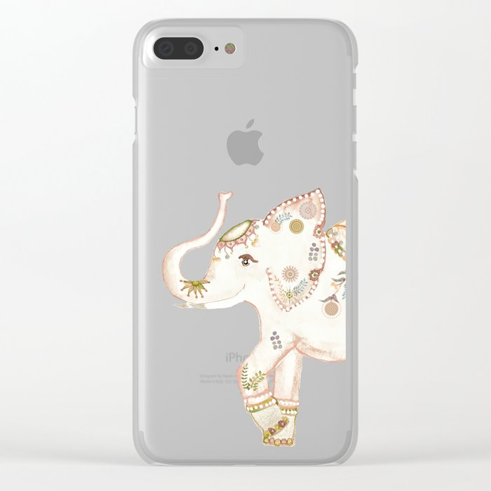 INDIAN ELEPHANT Clear iPhone Case