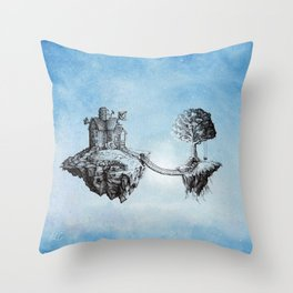 Dreaming of Stars - Illustration Throw Pillow