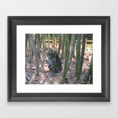 Buddha in the Woods Framed Art Print