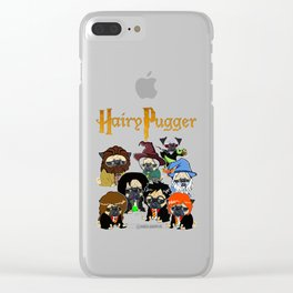 Hairy Pugger Clear iPhone Case