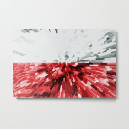 Extruded flag of Poland Metal Print