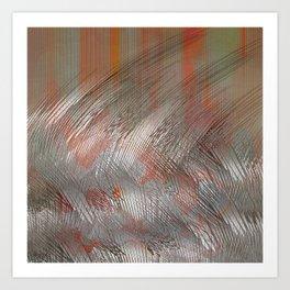 Silver lines Art Print