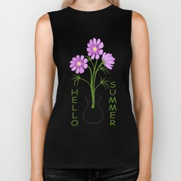 three daisies in the vase Biker Tank