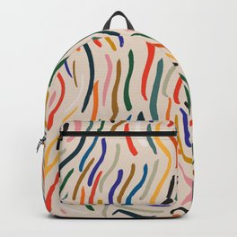 Wavy Vibes Modernist Palette Backpack