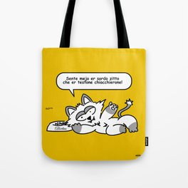 the wise cat - silence Tote Bag