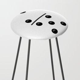 White Domino / Domino Blanco Counter Stool