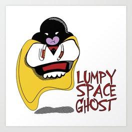Lumpy Space Ghost Art Print