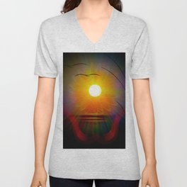 Abstract in perfection - Fertile Imagination sunrise Unisex V-Neck