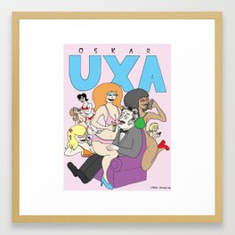 Oscar Uxa (inventor of the Pez dispenser) Framed Art Print