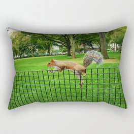 squirrel on a wire Rectangular Pillow