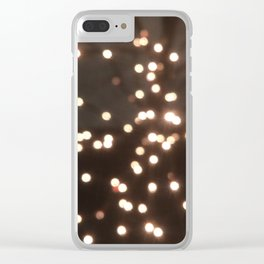 Holiday lights Clear iPhone Case
