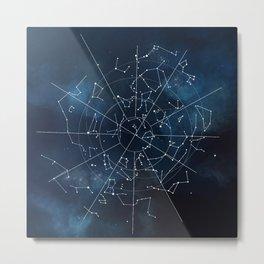 Celestial Map Metal Print
